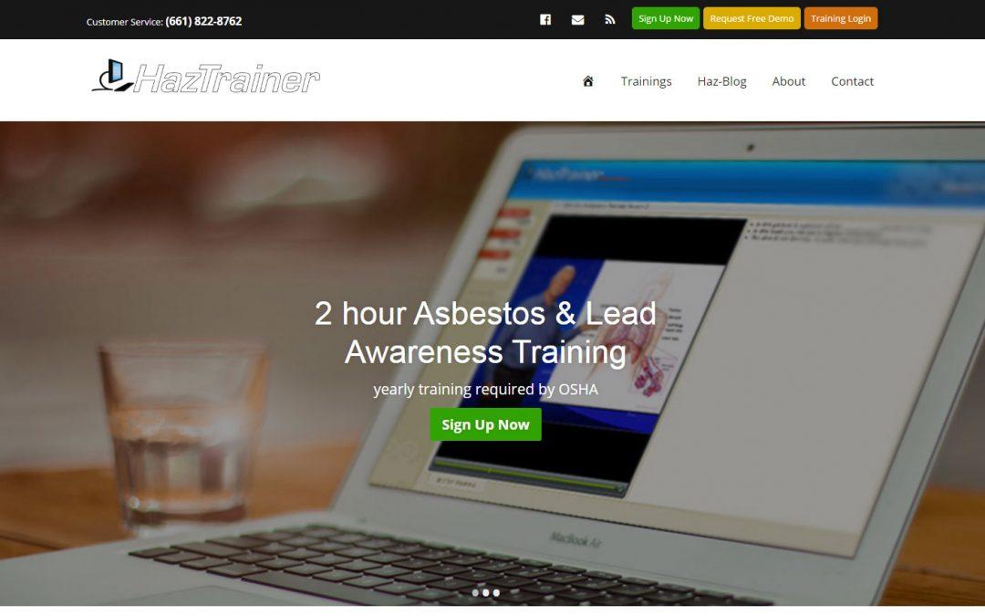 new haztrainer website asbestos and lead awareness training