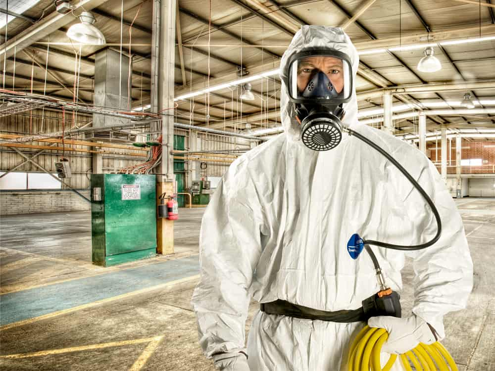professional asbestos removal worker